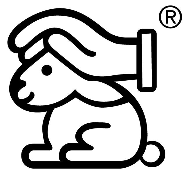 Siegel: Hase mit schützender Hand
