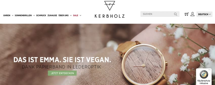 Kerbholz Website (Screenshot)