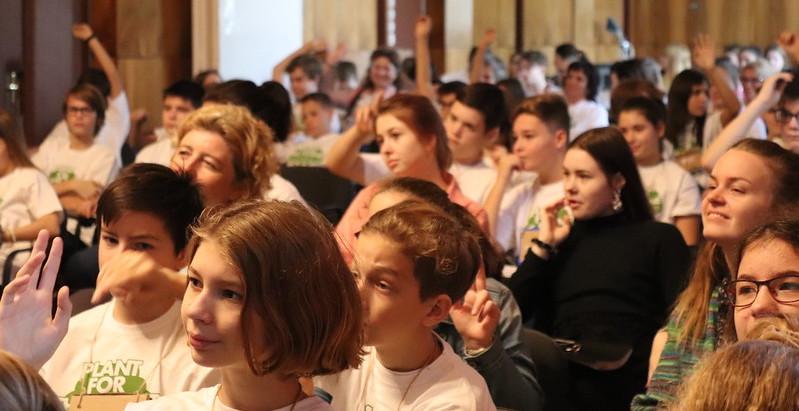 Kinder bei einem Workshop der Plant-for-the-Planet Akademie