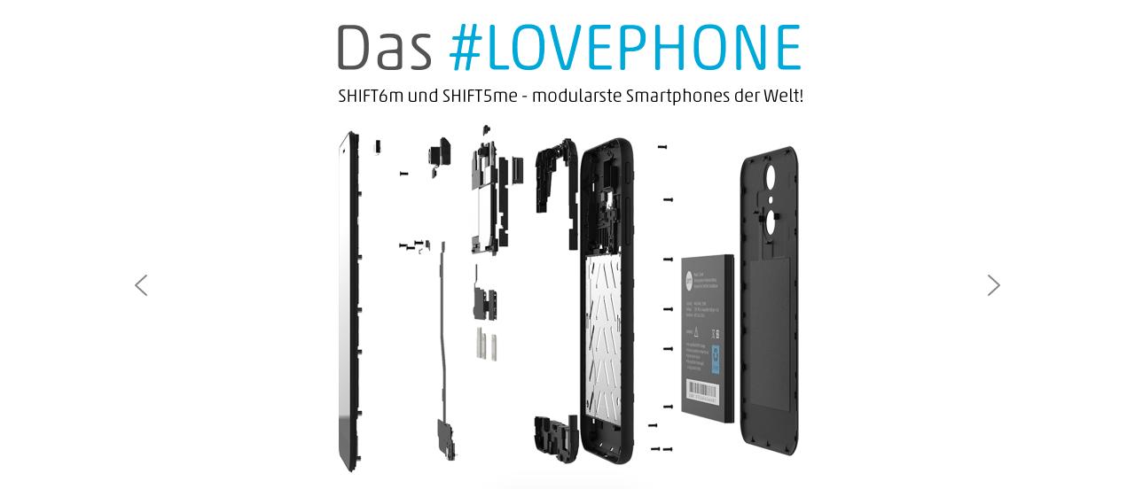 SHIFTPHONES Website (Screenshot)